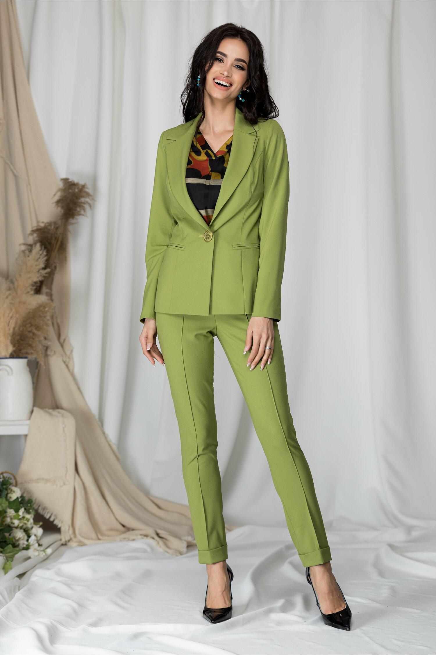 Compleu Leonard Collection verde cu sacou si pantaloni