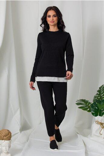 Compleu Lora negru din tricot