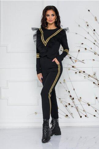 Compleu negru LaDonna by Catalin Botezatu cu top si pantaloni