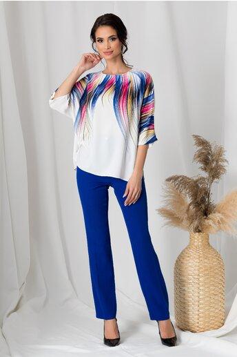 Compleu Sara albastru cu imprimeu pe bluza