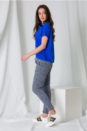 Compleu sport Adela albastru cu imprimeu picior de cocos