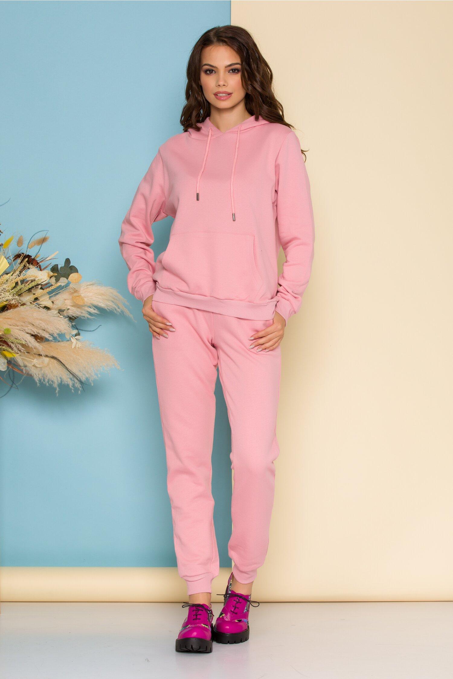 Compleu sport Angel roz cu aplicatii din paiete