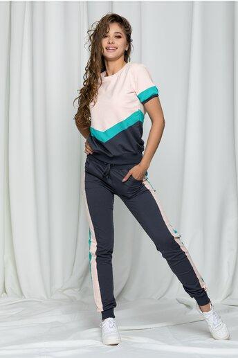 Compleu sport Raisa din doua piese cu pantaloni in trei culori