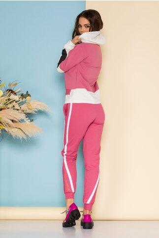 Compleu sport Yes roz cu alb