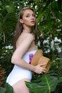 Costum de baie Jasmine intreg alb cu imprimeu flower