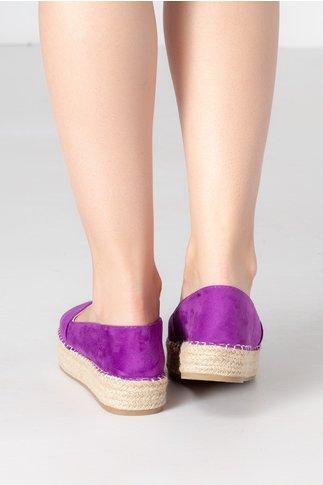 Espadrile violet cu talpa groasa