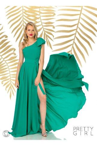 Fusta Pretty Girl verde lunga petrecuta