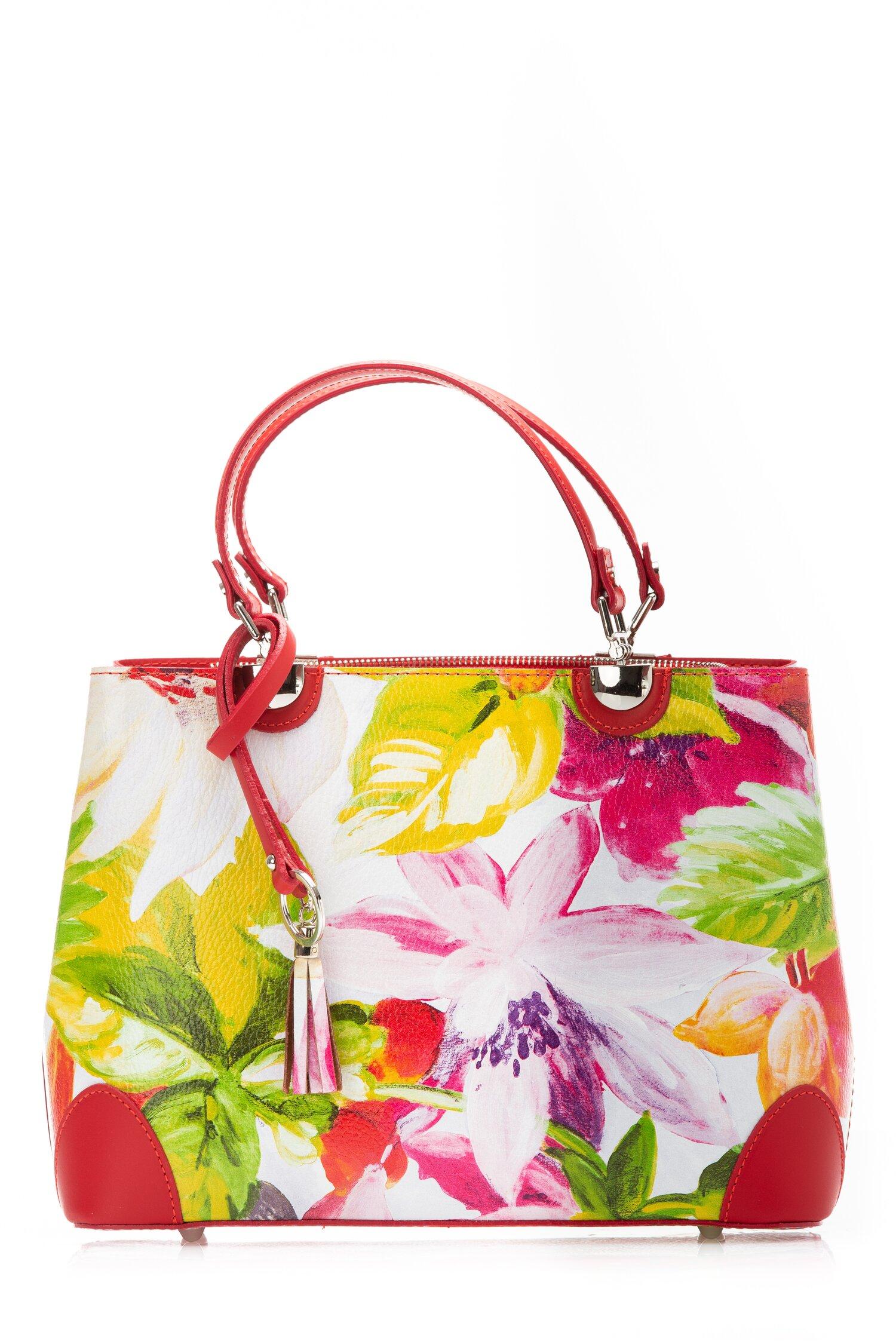 Geanta Charlize cu imprimeu floral paint imagine