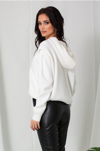 Hanorac Mara alb din tricot