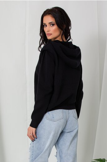 Hanorac Mara negru din tricot