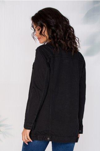 Jacheta Corry neagra din denim