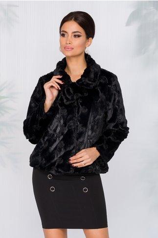 Jacheta din blanita cu brosa detasabila