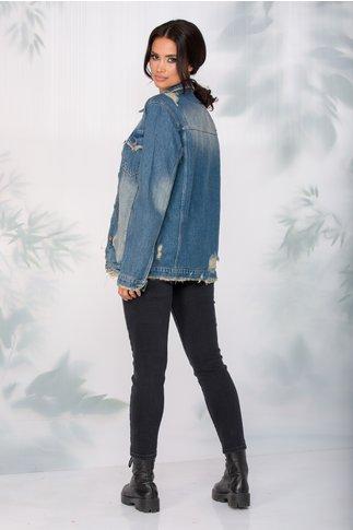 Jacheta Lora din denim cu aspect prespalat