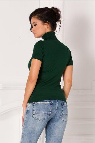 Maleta Sara verde inchis cu maneca scurta