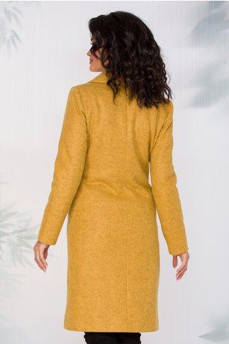 Palton Ginette galben cu patru nasturi