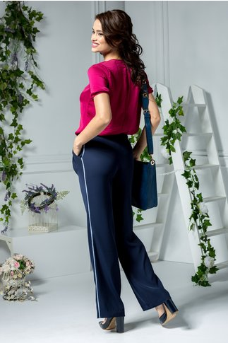 Pantalon Lena office bleumarin