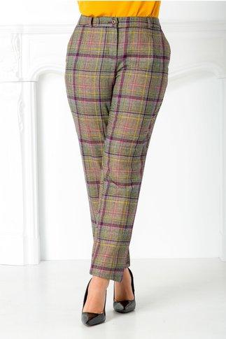 Pantalon Talida cu carouri colorate