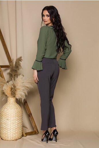 Pantaloni Alexandra gri office