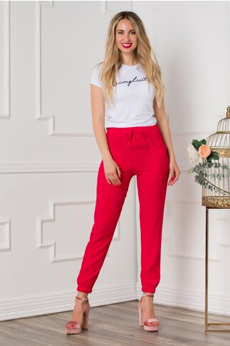 Pantaloni Alice lejeri rosii