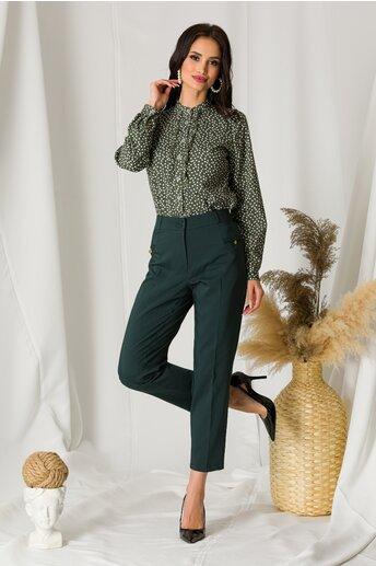 Pantaloni Aliss verde inchis