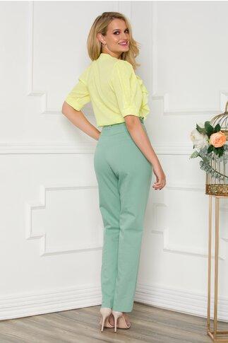 Pantaloni Andra verzi cu design punctat