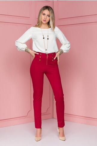 Pantaloni Bella bordo cu nasturi aurii