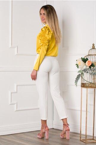 Pantaloni Camelia albi office
