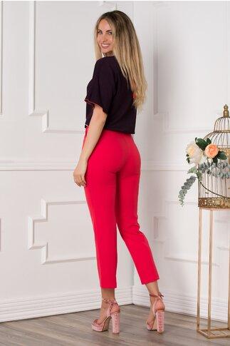 Pantaloni Camelia rosii office