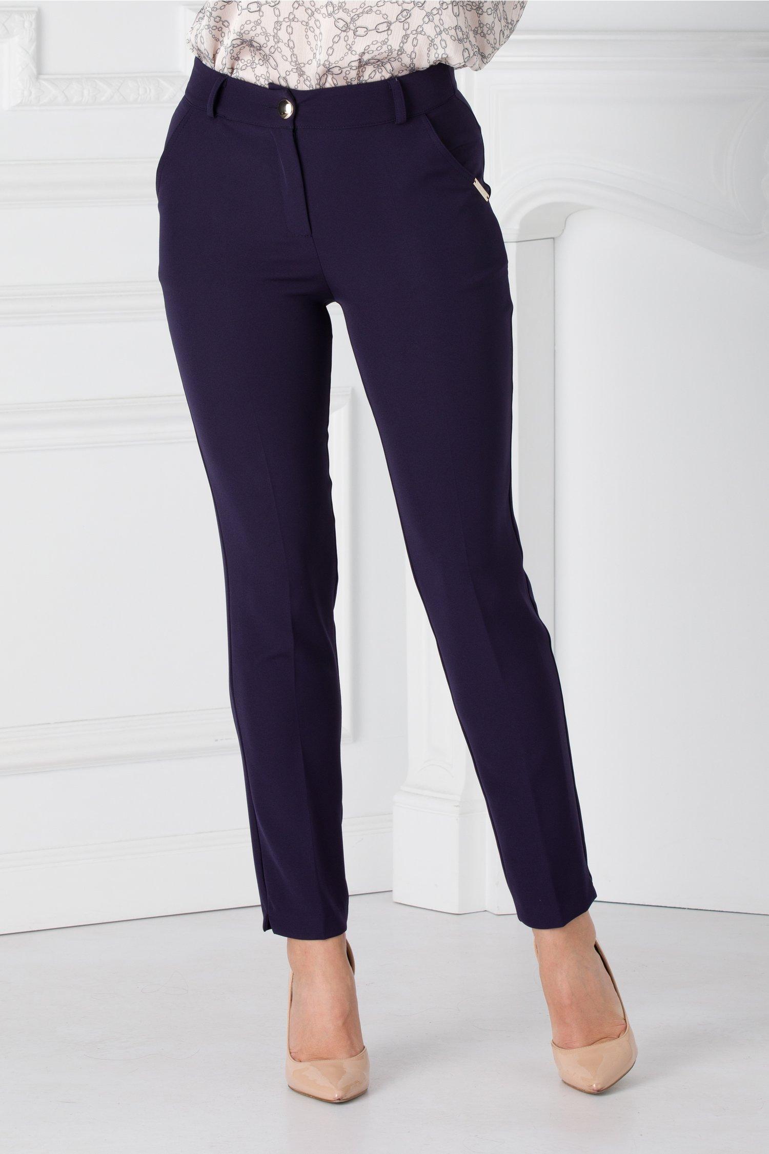 Pantaloni Demi bleumarin office