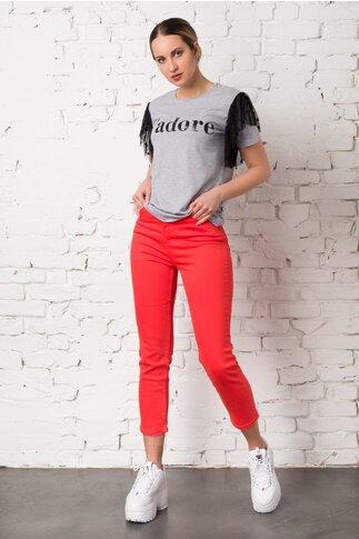 Pantaloni din denim corai
