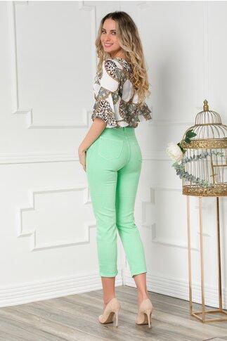 Pantaloni din denim verzi