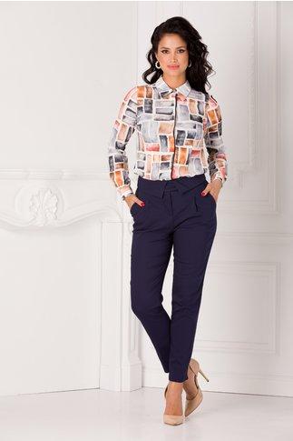 Pantaloni Dorina office bleumarin