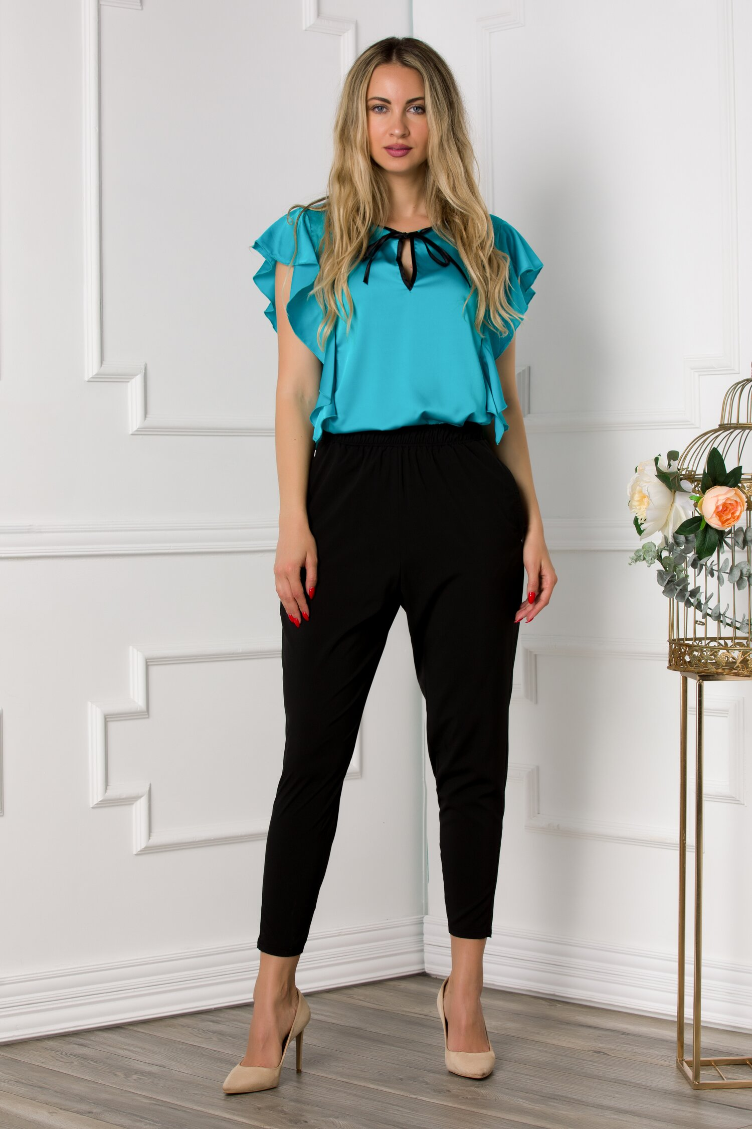 Pantaloni Ella Collection Vegas negri