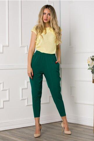 Pantaloni Ella Collection Vegas verzi