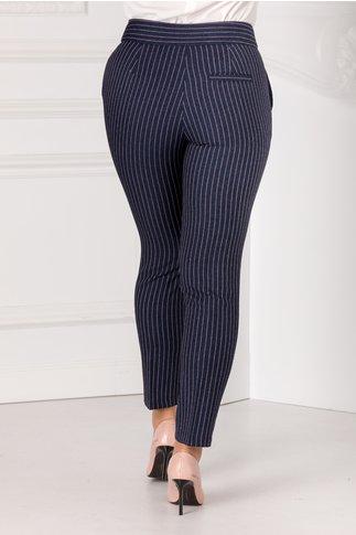 Pantaloni Emy bleumarin cu dungi