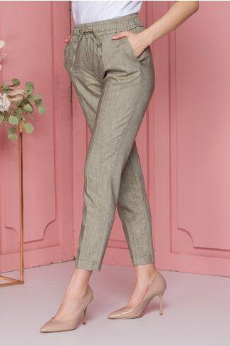 Pantaloni Flami kaki casual
