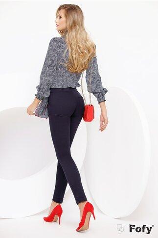 Pantaloni Fofy bleumarin cu esarfa atasata
