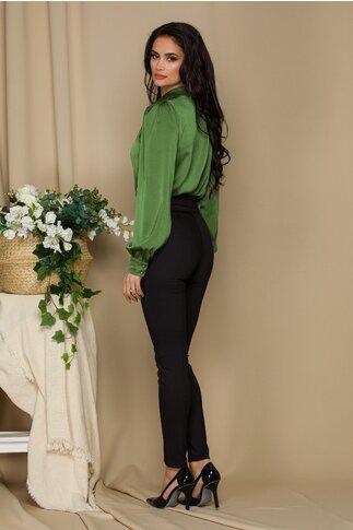 Pantaloni Fofy office  negrii cu design cu dunga