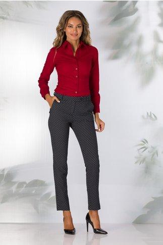 Pantaloni Freya bleumarin cu imprimeu alb