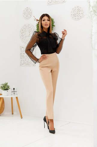 Pantaloni Ginette bej eleganti