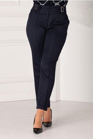 Pantaloni Irene bleumarin conici