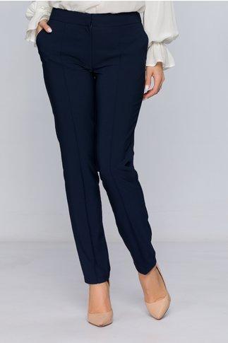 Pantaloni LaDonna bleumarin office cu design cu dungi