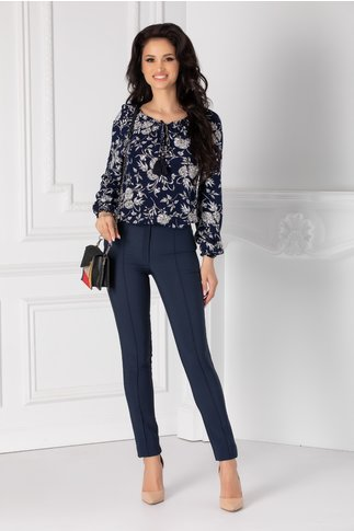 Pantaloni LaDonna conici bleumarin
