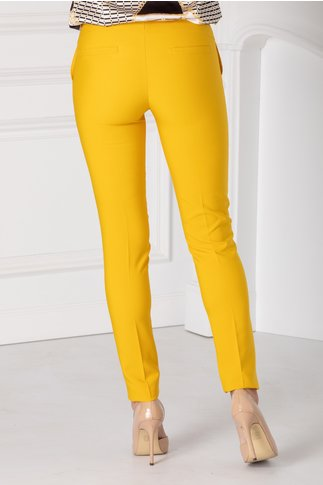 Pantaloni LaDonna conici galbeni