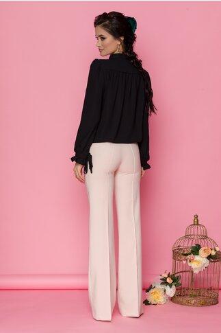 Pantaloni LaDonna nude rose cu design evazat