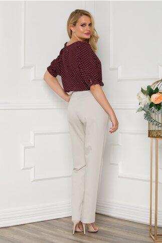 Pantaloni Larisa office cu curea in talie