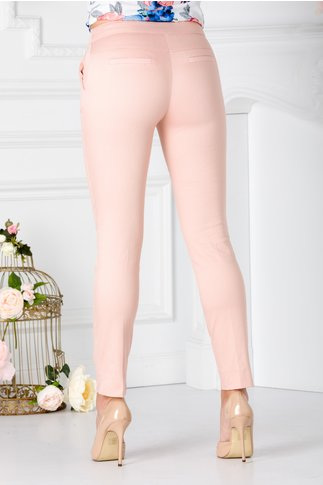 Pantaloni Marlo roz pudrat