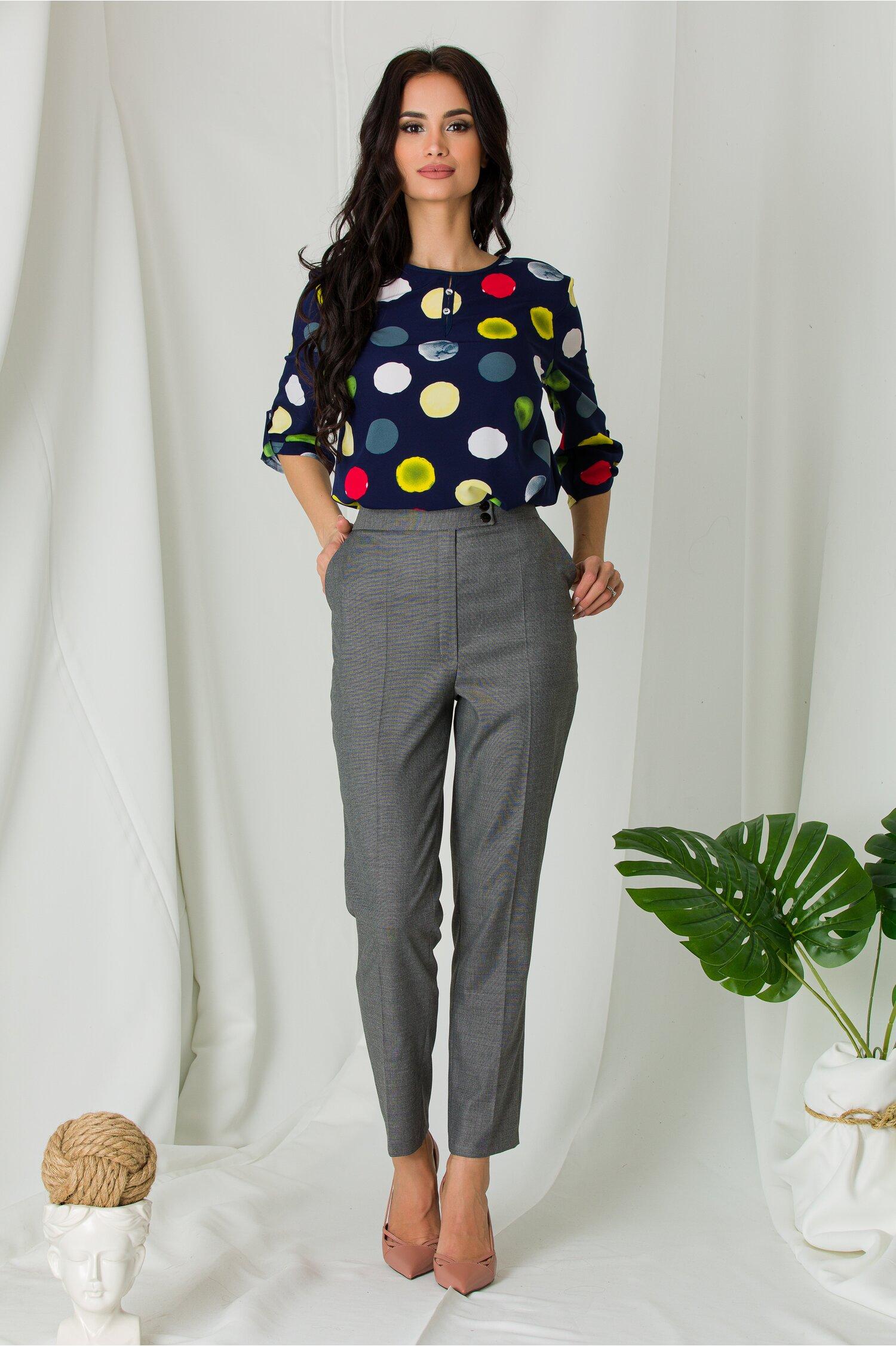 Pantaloni Mella office gri