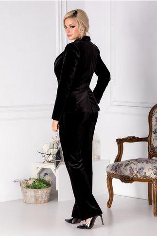 Pantaloni Moze din catifea neagra