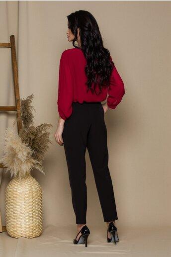 Pantaloni Moze negri cu aplicatii pe talie